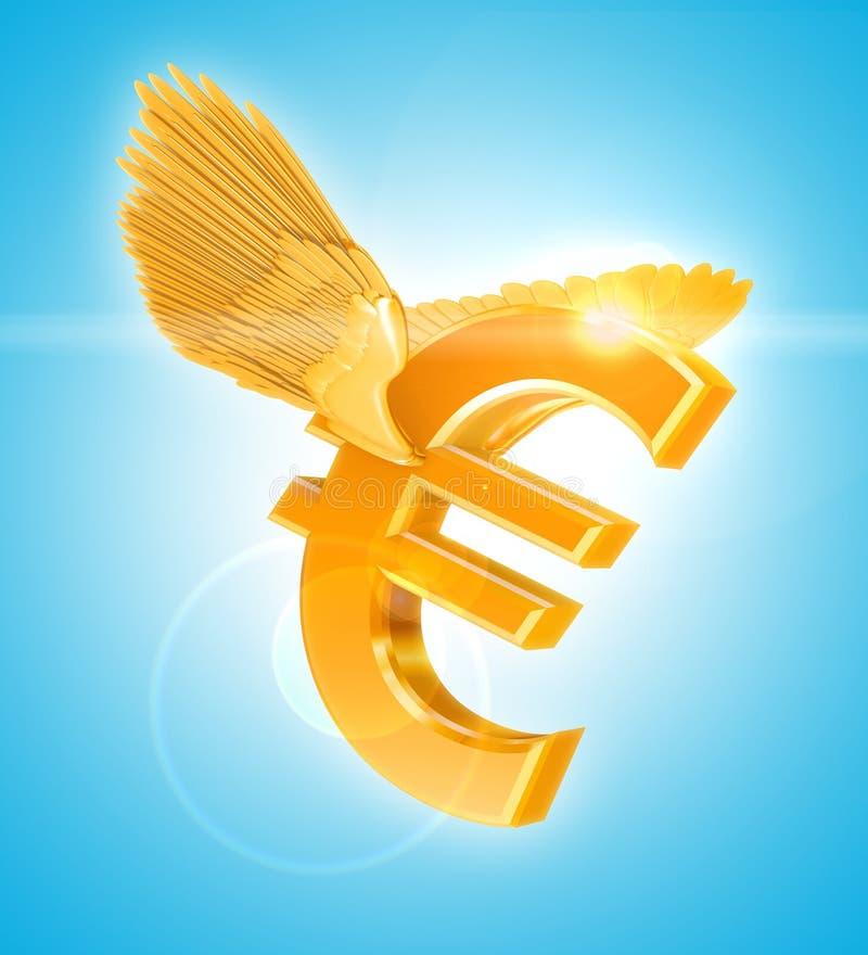 euro złoty ilustracji