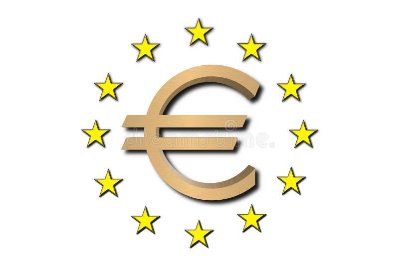euro złoty symbol ilustracja wektor
