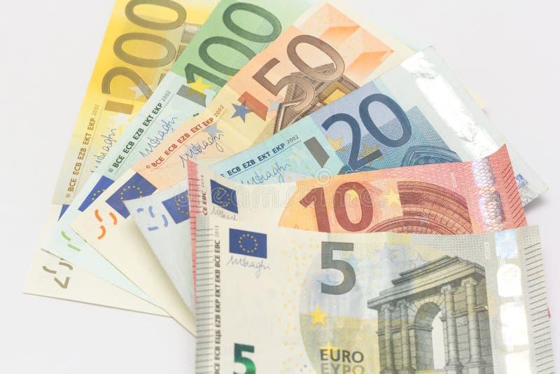 Euro zauważa pieniądze fotografia royalty free