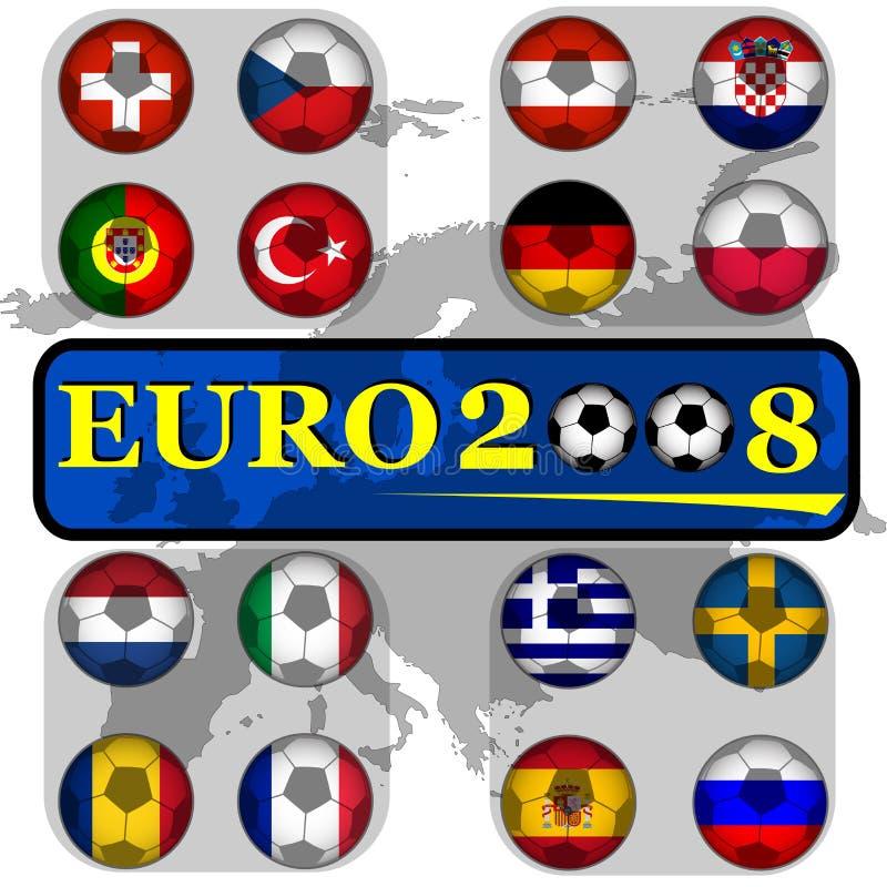 euro2008 royaltyfri illustrationer