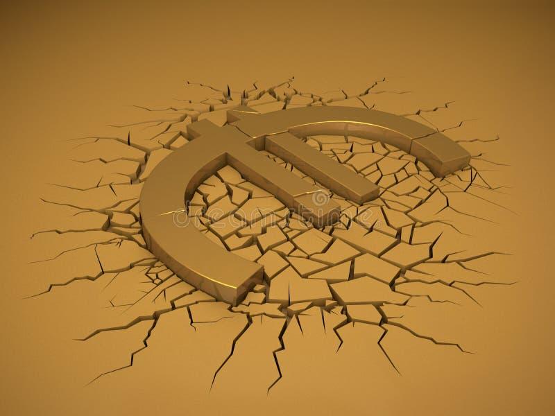 Euroabbruch vektor abbildung