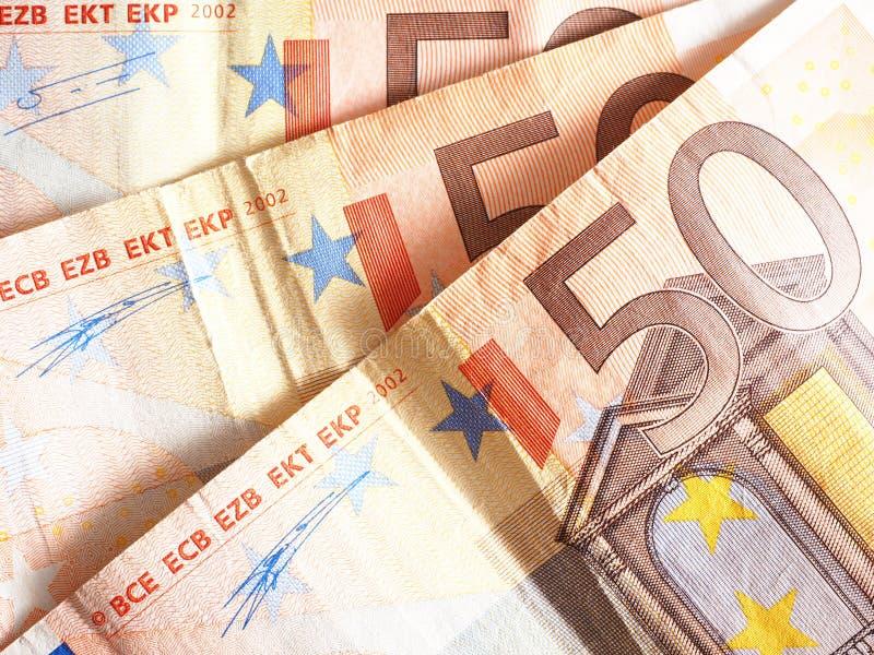 50 euroanmärkningar royaltyfri foto
