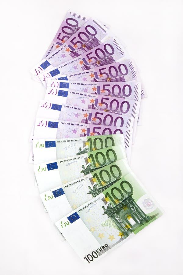 Euroanmerkungen stockfotografie