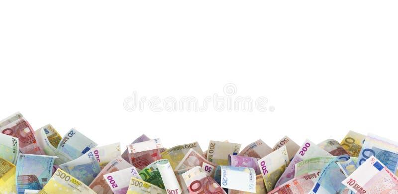 Euroanmerkungen am Boden, stockbilder