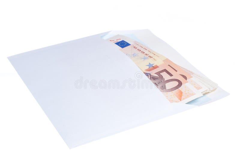 Euroanmerkungen im Umschlag lizenzfreies stockfoto