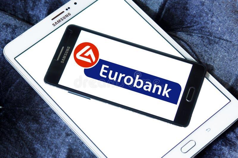 Eurobank embleem royalty-vrije stock fotografie