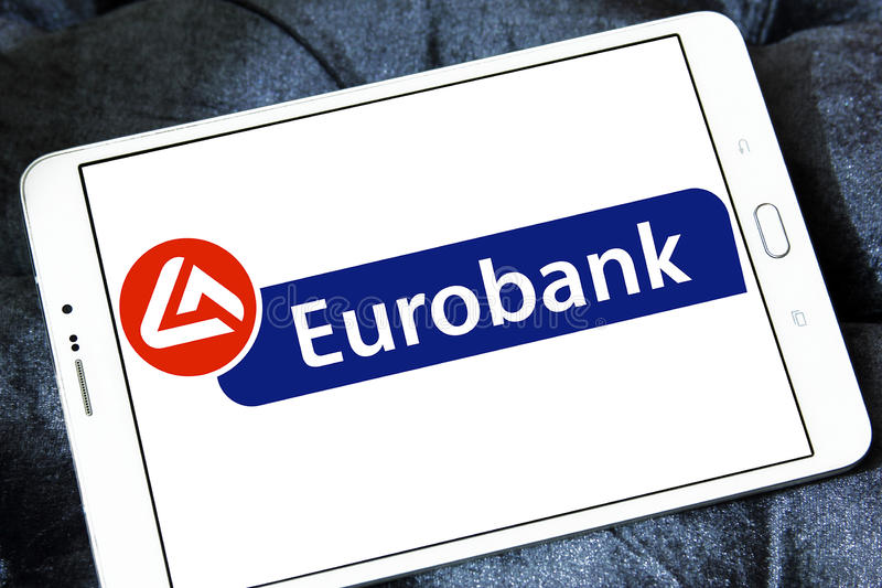 Eurobank embleem royalty-vrije stock foto's