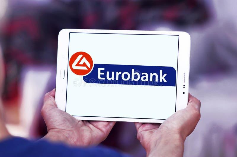Eurobank embleem stock afbeelding