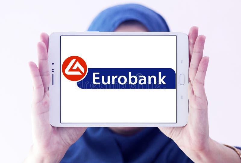 Eurobank embleem royalty-vrije stock afbeeldingen