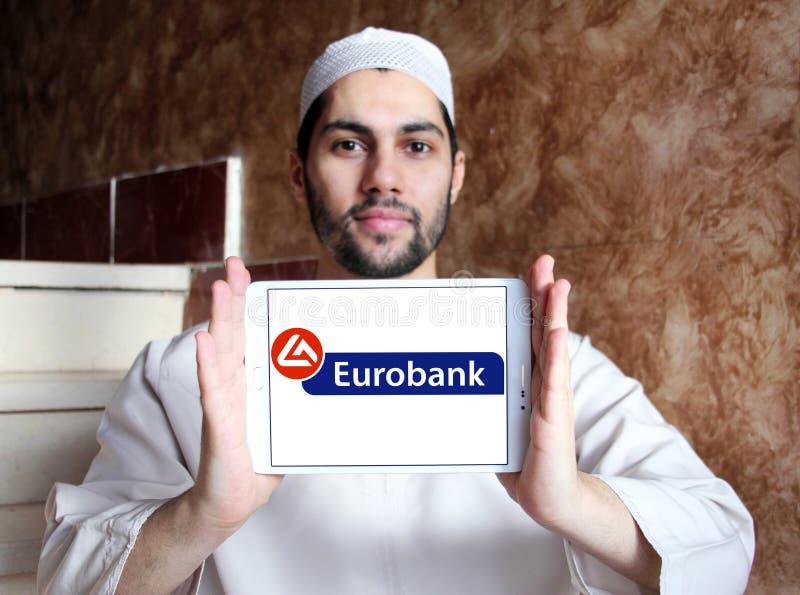 Eurobank embleem stock fotografie