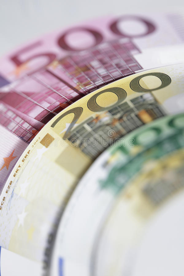 Eurobanknotegeld stockfotografie