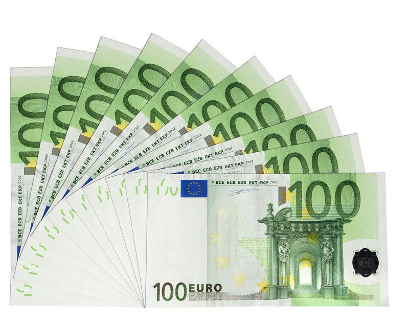 Eurobanknoten lizenzfreie abbildung