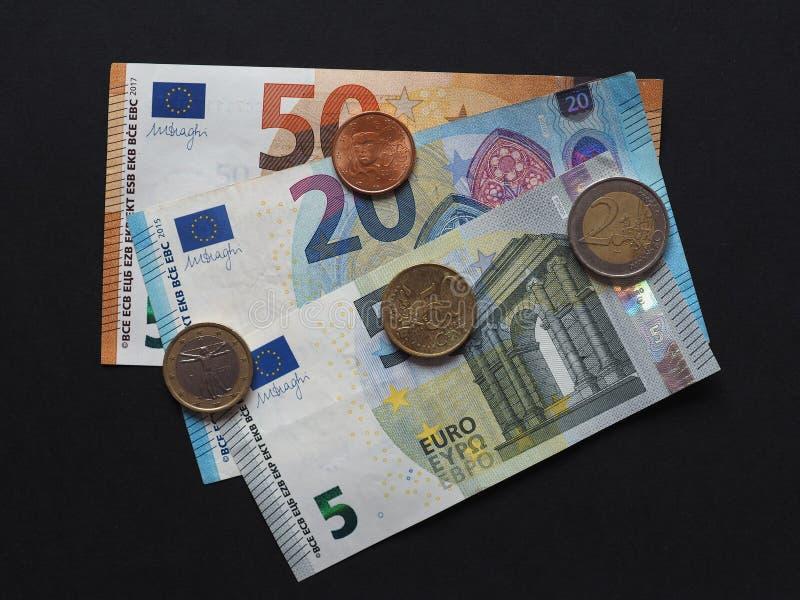 Eurobanknoten und Münzen, Europäische Gemeinschaft lizenzfreies stockfoto