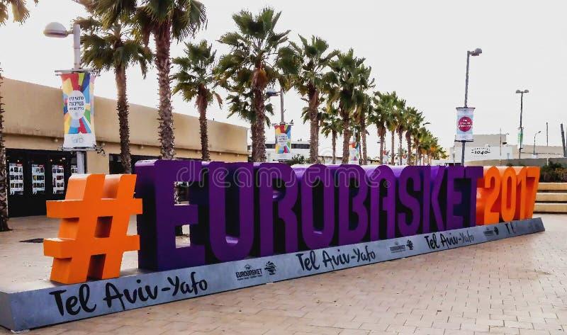 Eurobasket 2017 w Tel Aviv obrazy stock