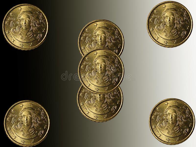 Eurocent royalty-vrije stock foto's