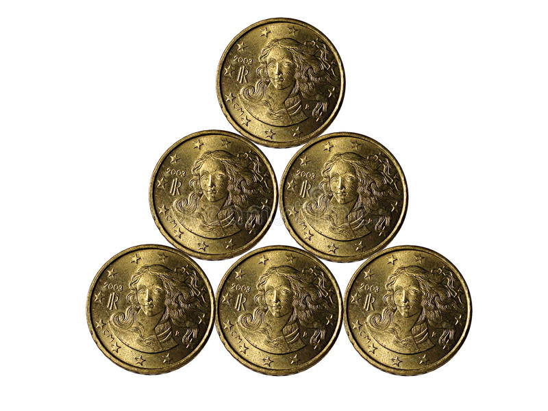 Eurocent royalty-vrije stock foto