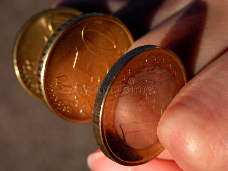 Eurocoins-pouvoir d'argent photo libre de droits