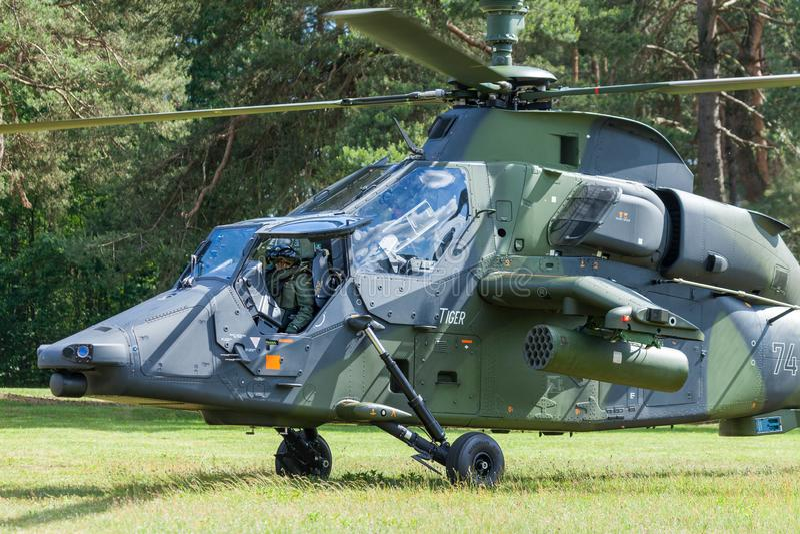 Eurocopter Tygrysi engined śmigłowiec szturmowy zdjęcie royalty free
