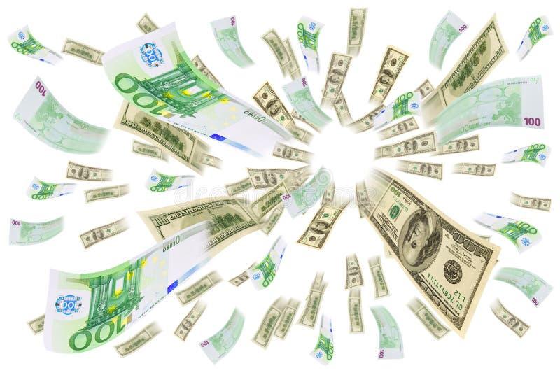 Eurodolar del comercio de divisas. fotos de archivo