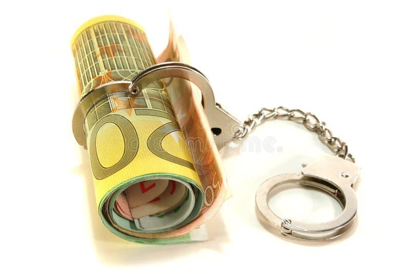 euroen handfängslar anmärkningar arkivfoton