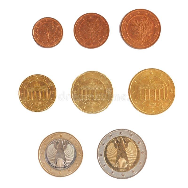 Euroet myntar serie arkivfoto
