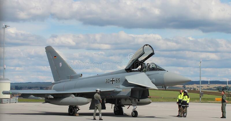 Eurofighter, Calden 30-65 royalty free stock photography