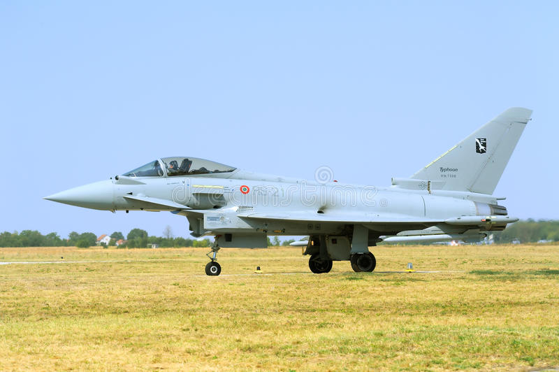 Eurofighter tajfunu samolot obrazy royalty free