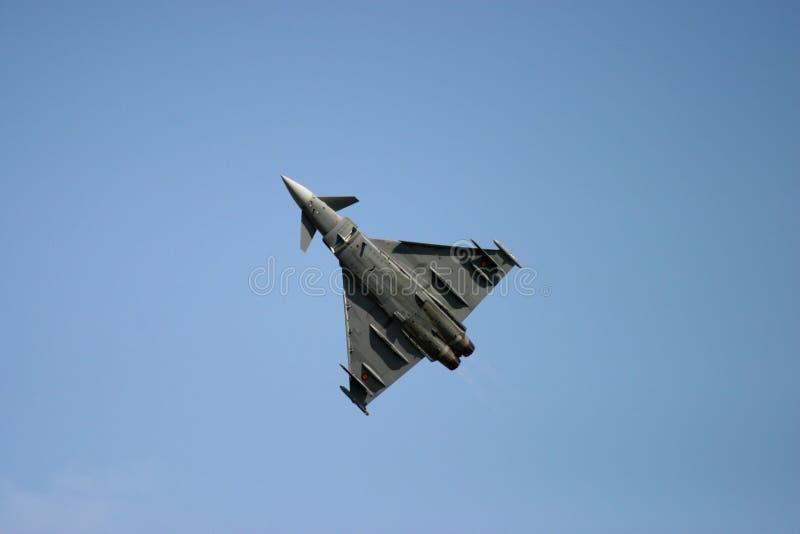 Eurofighter Typhoon au tatouage d'air de RAF Fairford image stock
