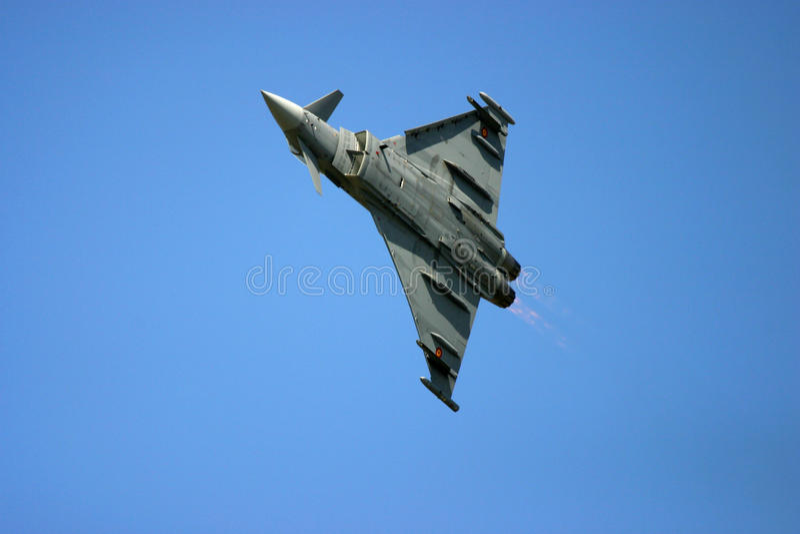 Eurofighter Typhoon au tatouage d'air de RAF Fairford photographie stock libre de droits
