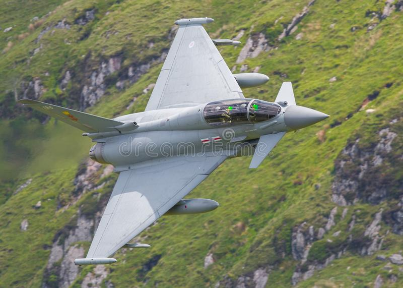 Eurofighter Typhoon strumień obrazy stock