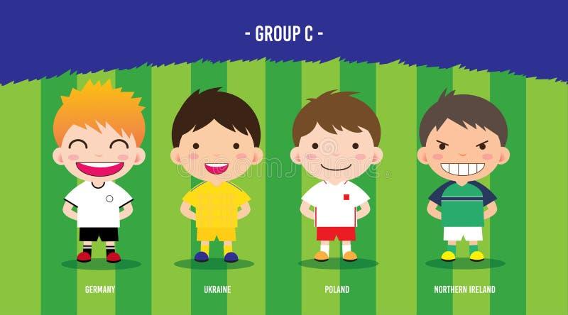 EUROfotbollgrupp c stock illustrationer