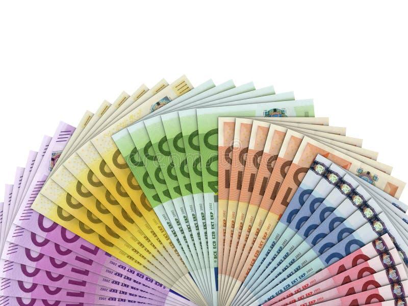 Eurogeld-Banknoten lizenzfreie stockfotos