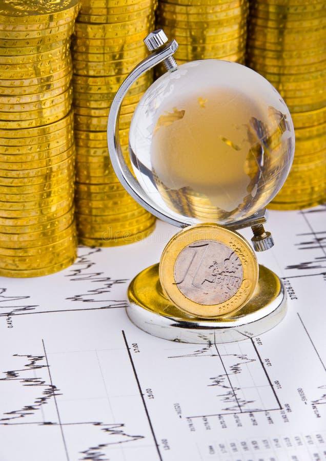 Eurogeldmünze lizenzfreie stockbilder