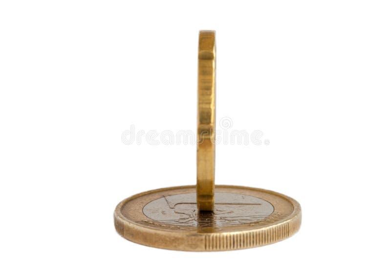 Eurogeldmünze stockfotos