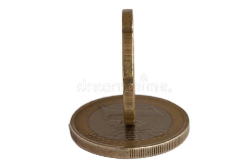 Eurogeldmünze stockfoto