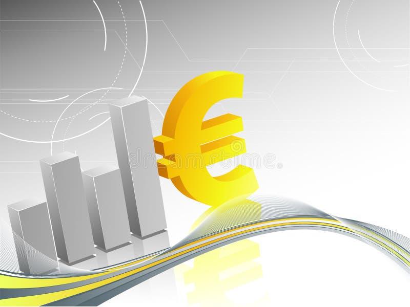 Eurohintergrund lizenzfreie abbildung