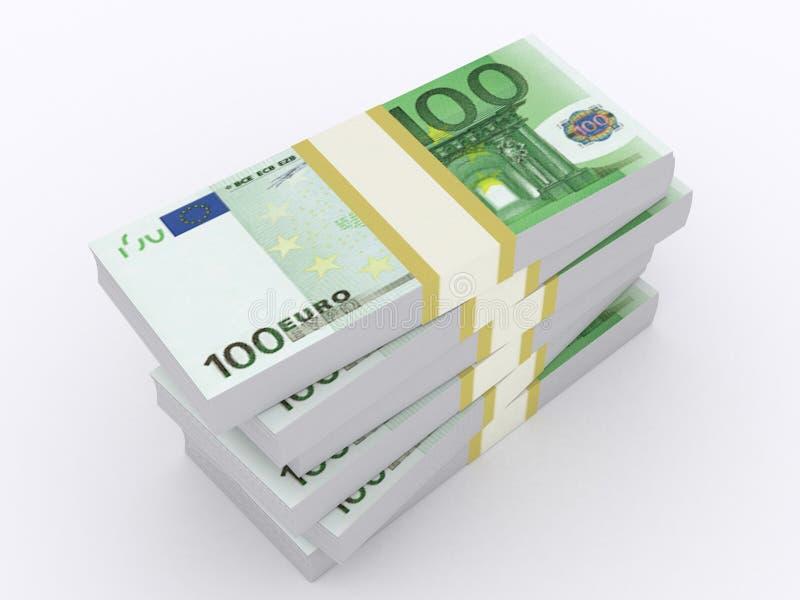 Euroillustration royaltyfri bild