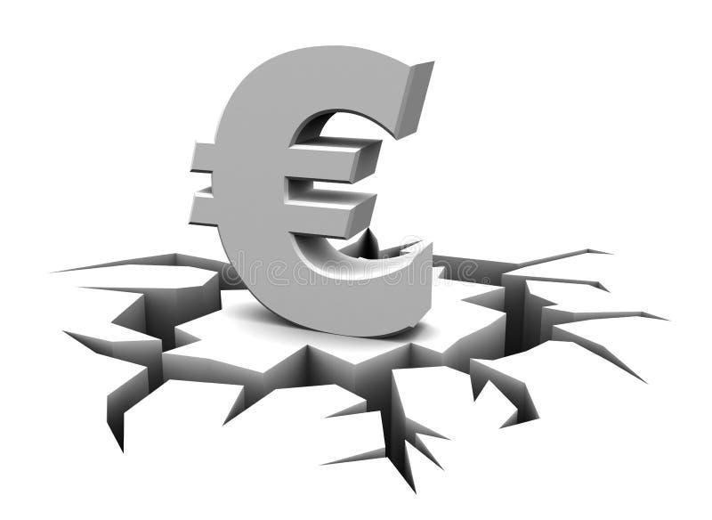 Eurokrise lizenzfreie abbildung