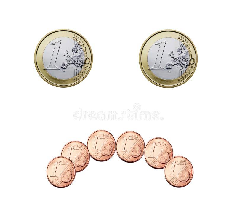 Eurolächeln lizenzfreie stockbilder