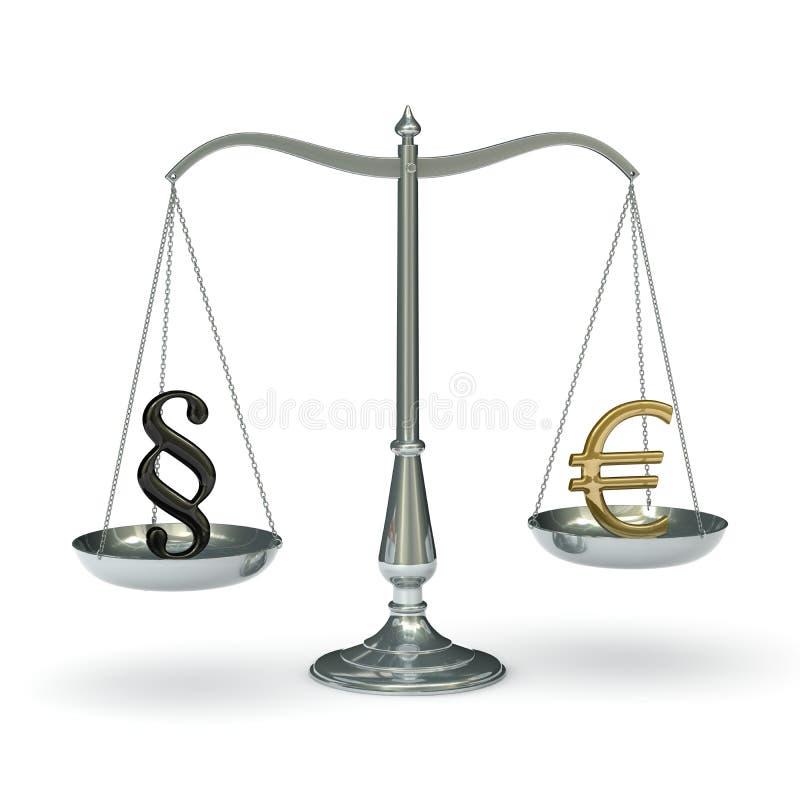 eurolagscales royaltyfri illustrationer