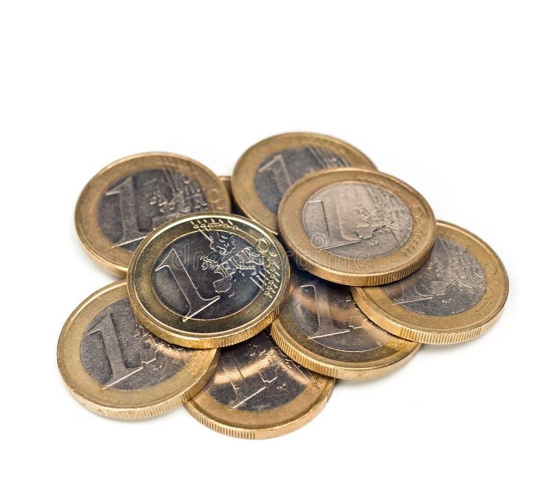 Euromünzen stockfoto