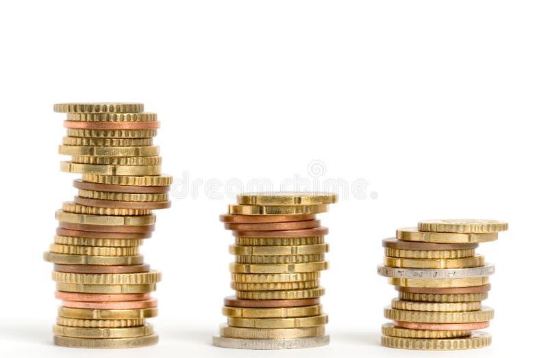 Euromünzen stockbild