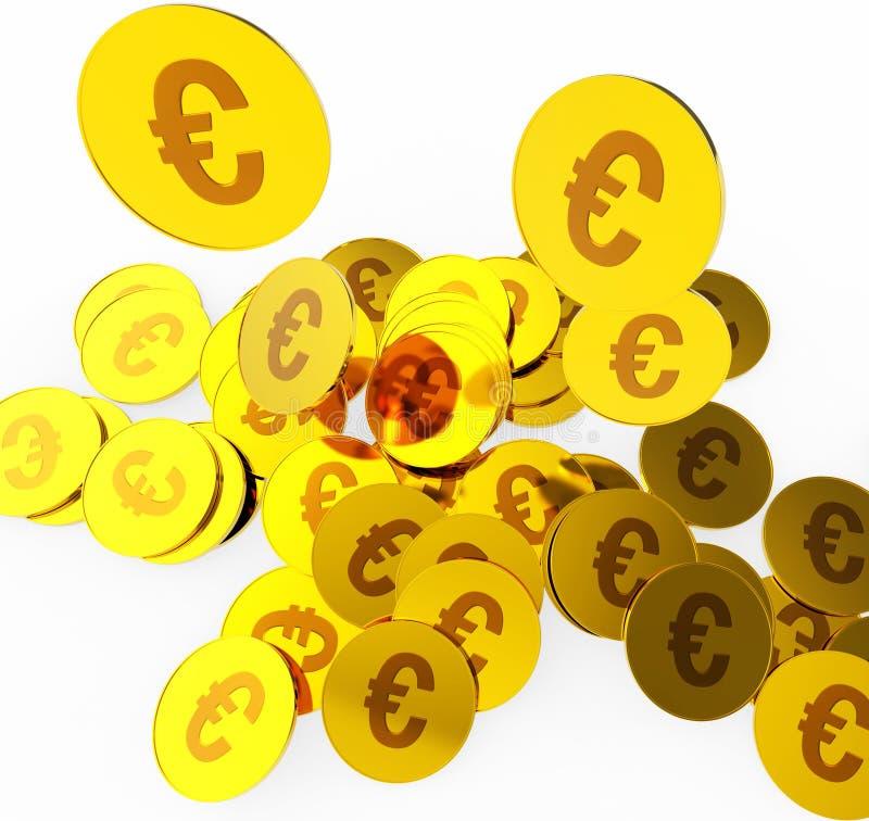 Euromünzen zeigt Geld-Finanzierung und Währung an lizenzfreie abbildung