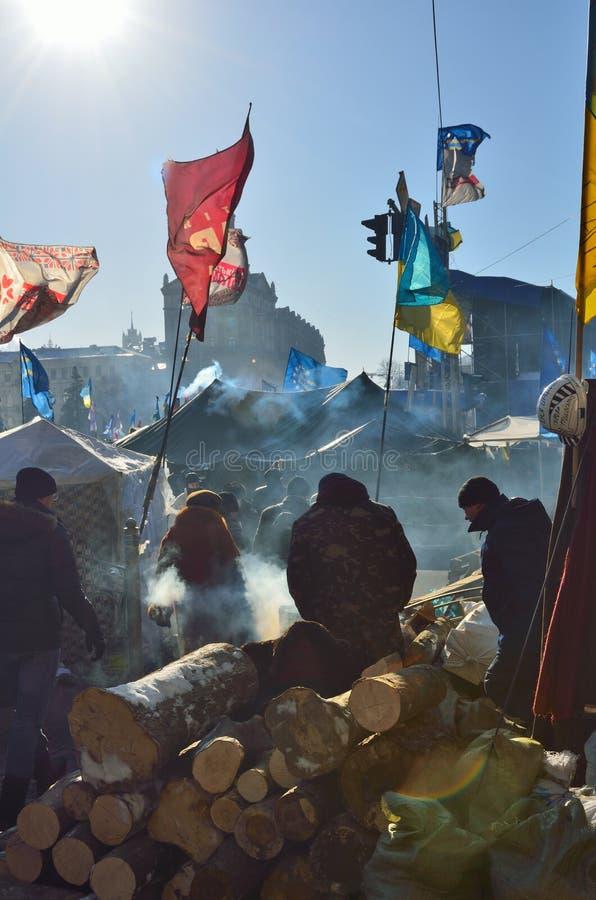 Euromaidan arkivfoton