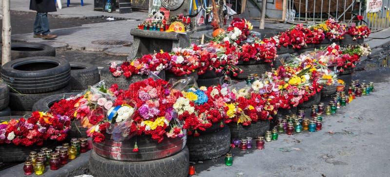 Euromaidan Kyiv efter protest arkivbilder