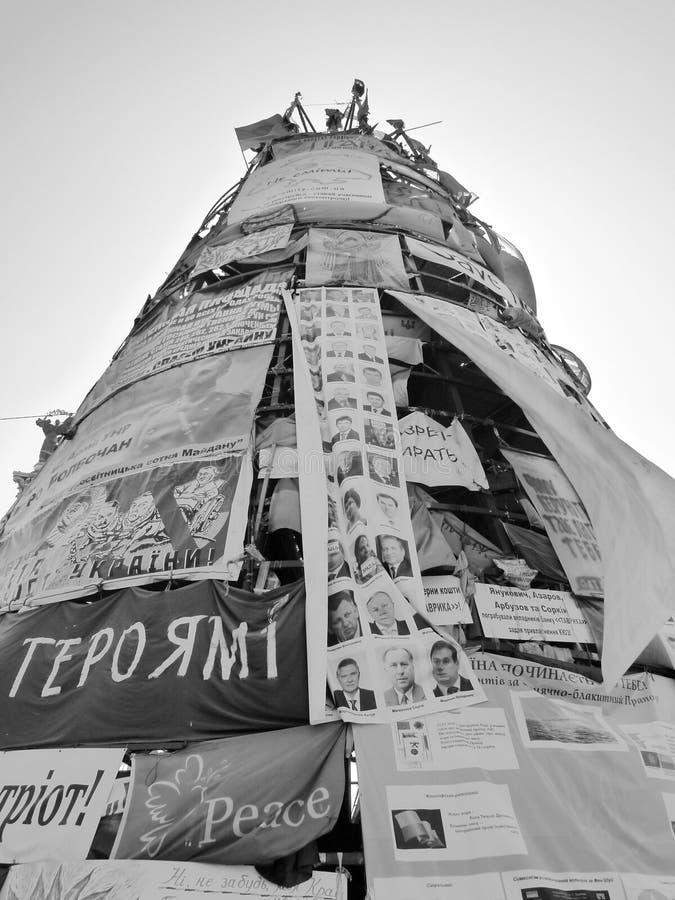 Euromaidan, tres días antes de los choques con el gobierno fotos de archivo libres de regalías