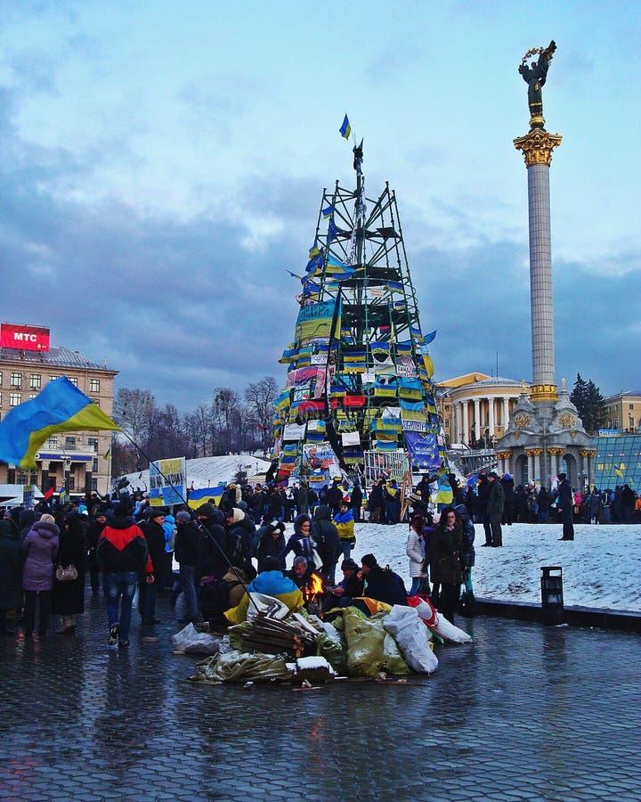 Euromaidan in Ukraine royalty free stock photos