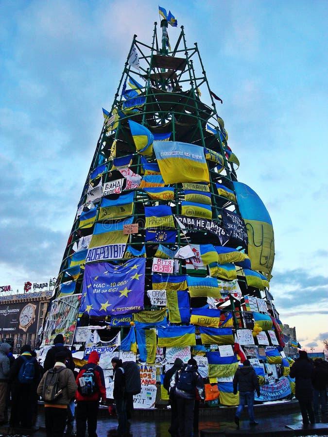 Euromaidan in Ukraine stock image