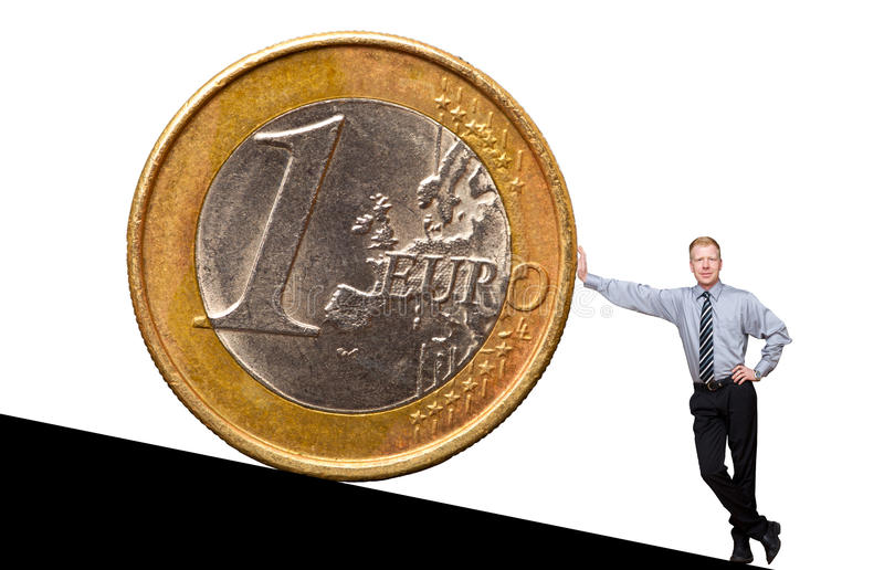 Euroman royalty-vrije stock afbeelding