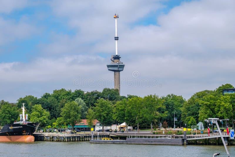 Euromast en Rotterdam, Países Bajos imágenes de archivo libres de regalías